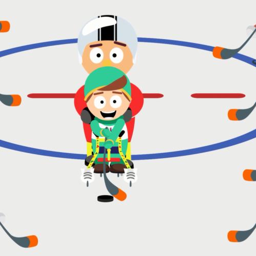 Новый ролик про занятия хоккеем для детей с ОВЗ