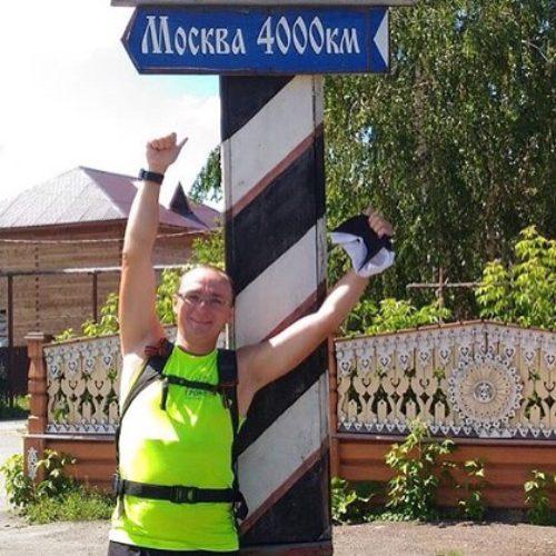 Уже более 4000км пробежал Александр Капер